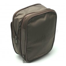 Bare Escentuals  Brown Expandable Make up Bag Organizer, Cosmetic Case